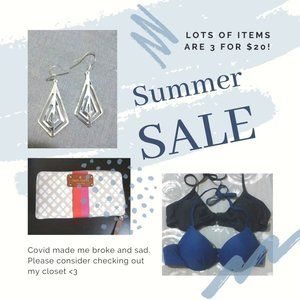 SUMMER SALE!!! Many 3/$20 items!